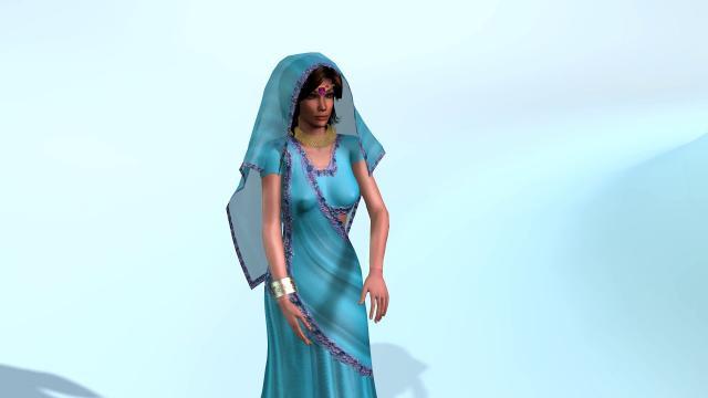 Indian female 3D model