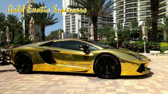 Золотые суперкары Gold Exotic Supercars