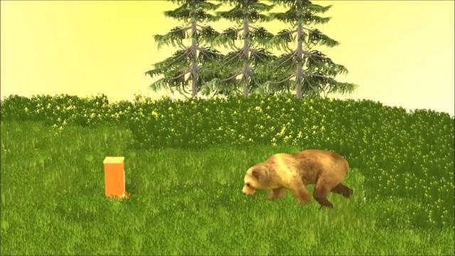 Bear in the apiary     -scene from the film Well take  it