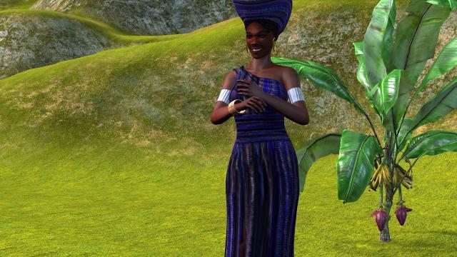 African Female Purple