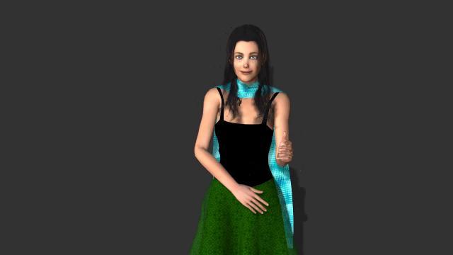 Lola blue scarf